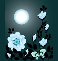 night flowers vector image