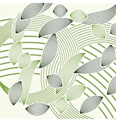 abstract green foliage vector image vector image