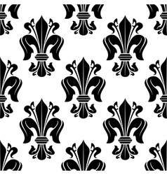 Black and white victorian floral pattern vector image vector image