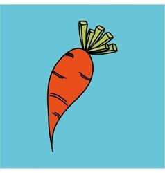 carrot icon design vector image vector image