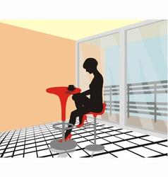 dreamy woman vector image vector image