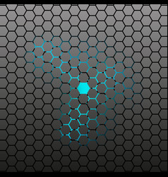 hexagonal tile background vector image vector image