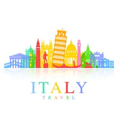 Italy Travel vector image vector image