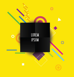Abstract background with black square vector
