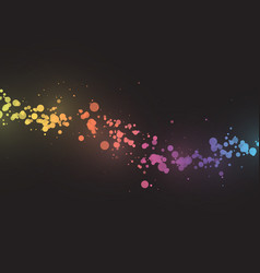 abstract color dots wave background with bokeh vector image