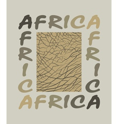 Africa background with text and texture elephant vector