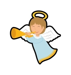 Angel icon Merry Christmas design graphic vector image