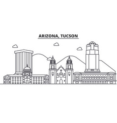 Arizona tucson architecture line skyline vector