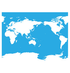 Australia and pacific ocean centered world map vector