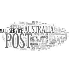 Australia post text word cloud concept vector
