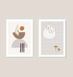 autumn artistic greeting cards invitations cut vector image