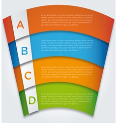Banner Design template eps10 vector image vector image