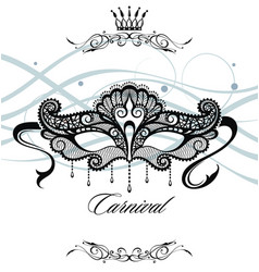 Beautiful mask of lace symbol vector