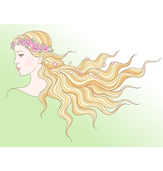 beauty girl spring vector image