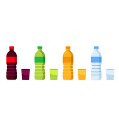beverages bottles vector image