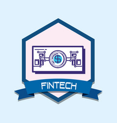 Bill dollar fintech icon vector