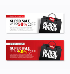black friday sale shopping bag cover and web vector image