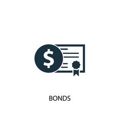 Bonds icon simple element bonds vector