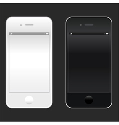 Brand new realistic mobile phone smartphone iphon vector image
