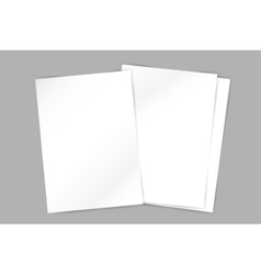 Brochure blank template Abstract flyer vector