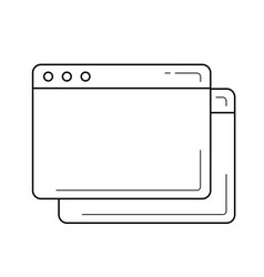 Browser window line icon vector