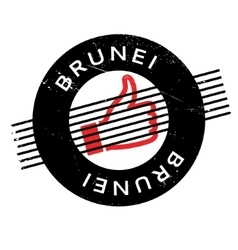 Brunei rubber stamp vector