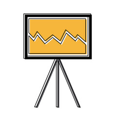 business growing chart presentation financial vector image