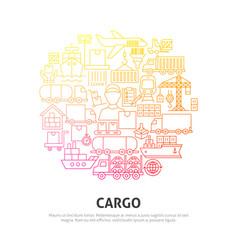 Cargo circle concept vector