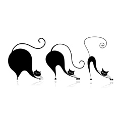 Cat style design - from small to big vector image