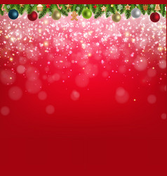christmas background with glitter star vector image