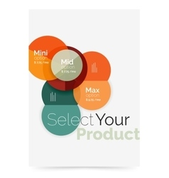 Circle business brochure template with options vector