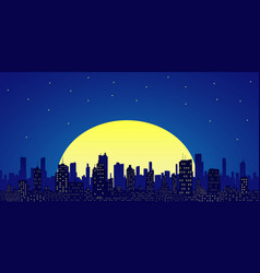 city skyline flat style vector image