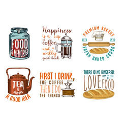 coffee maker or kettle french press rolling pin vector image