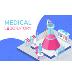 Colorful isometric a medical vector