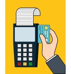 Dataphone invoice payment icon graphic vector