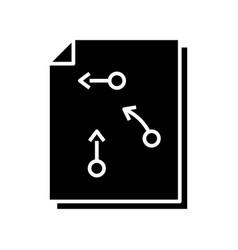 Decision algorithm black icon concept vector