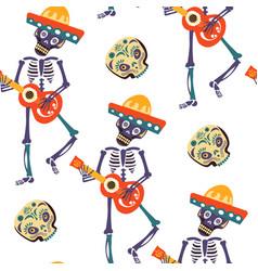 dia de los muertos greeting card for vector image