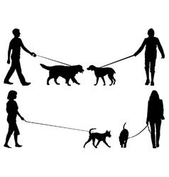Dog walkers vector image