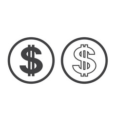 dollar symbol with two vertical lines i vector image