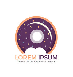 donut logo vector image