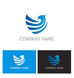 eagle company logo vector image