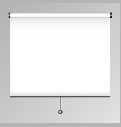 empty projection screen presentation board blank vector image