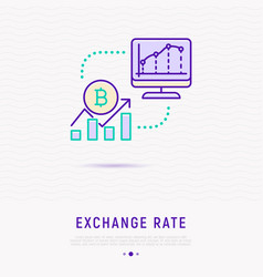 Exchange rate concept graphic of currency growth vector