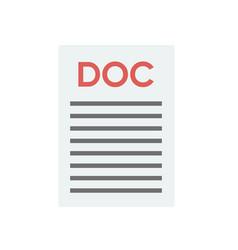 File document icon download doc button doc vector