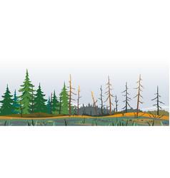 Forest swamp danger place landscape vector