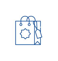 gift bag line icon concept gift bag flat vector image