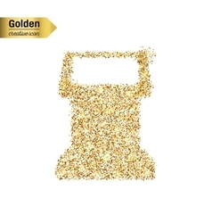 Gold glitter icon of terminal screen vector