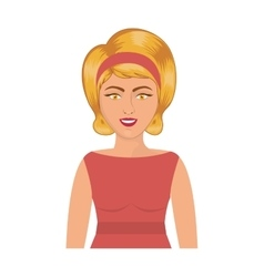 Half body blonde woman with headband vector