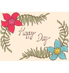 happy day vintage colorful background vector image