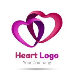 Heart symbol icon design template elements Volume vector